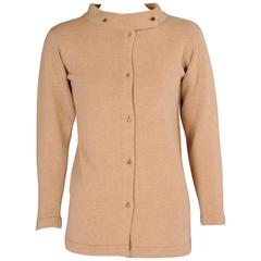Bonnie Cashin Scottish Cashmere Cardigan Sweater