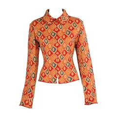Azzedine Alaia Patterned Wool Jacket