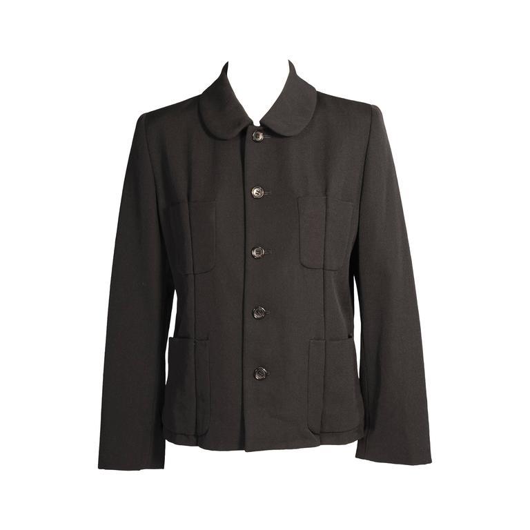 Comme des Garcons Black Wool Jacket