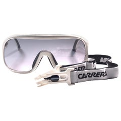 New Vintage Carrera Aviator 5625 White Ski Sunglasses Austria 1980