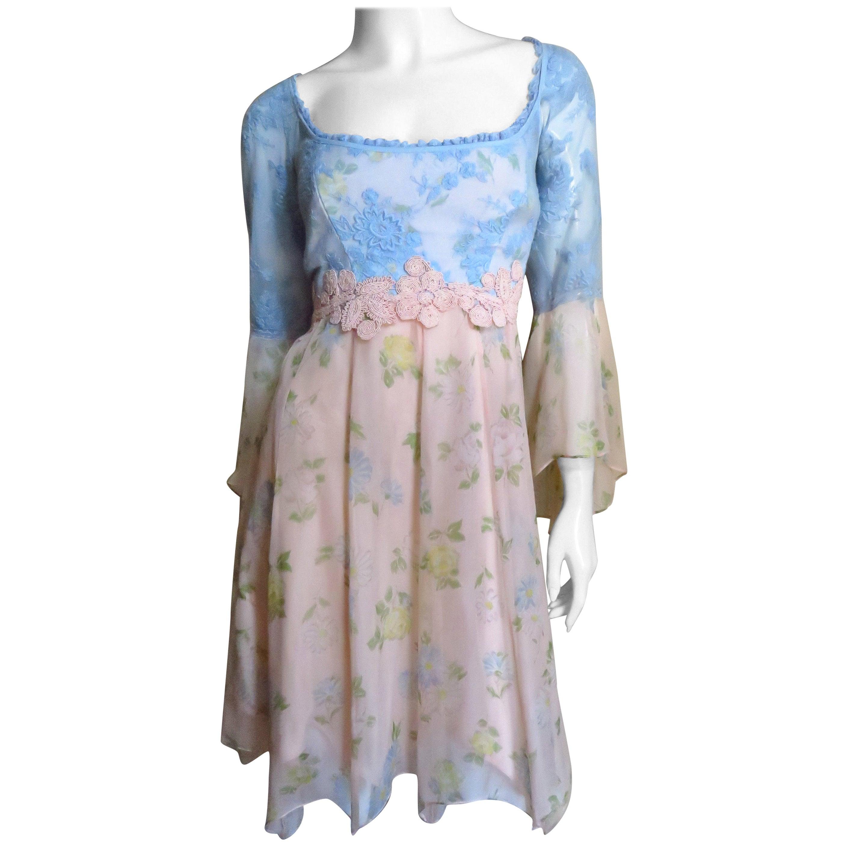 Lolita Lempicka Silk Dress with Lace