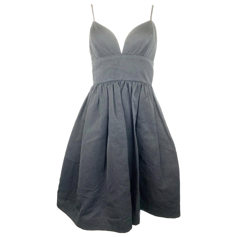 Bill Blass Black Babydoll Dress Size 8