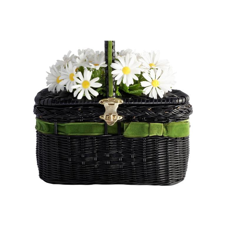 """Vintage """"Basket of Daisies"""" Novelty Bag"""