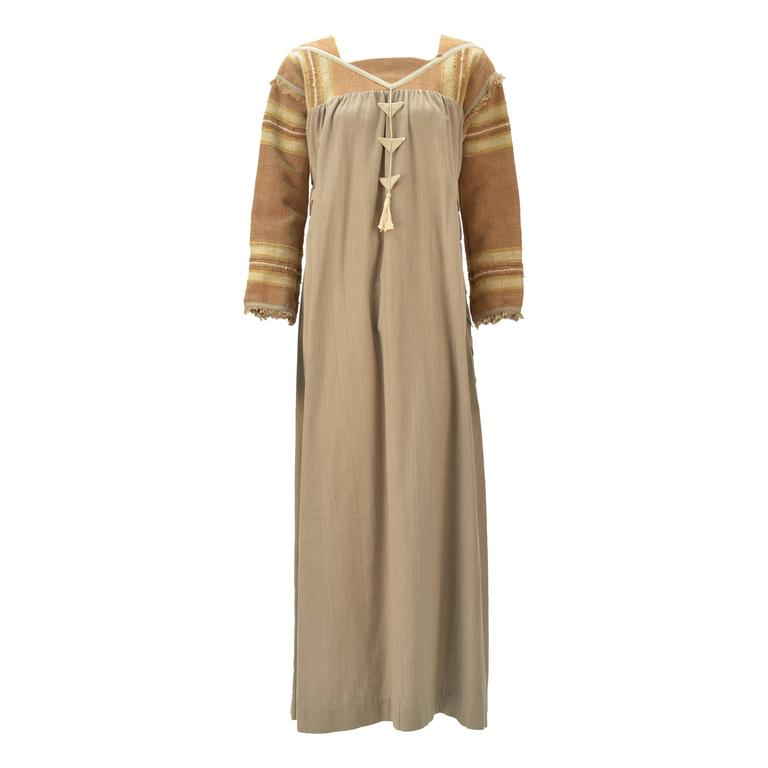 1970s Opus 1 By Diana Martin Tan and Brown Kaftan 1