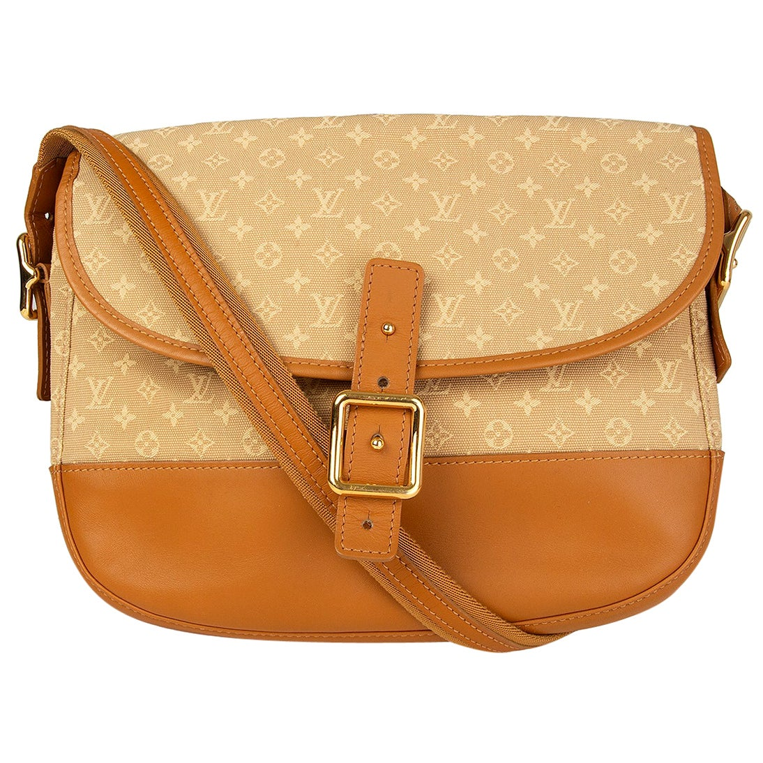 LOUIS VUITTON beige Monogram Mini Lin MAJORIE Shoulder Bag