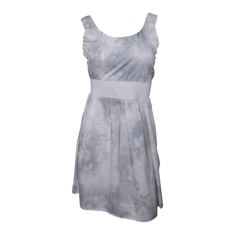 Marni Watercolor Print Mini Dress