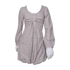 Chloe Wool Babydoll Bubble Dress