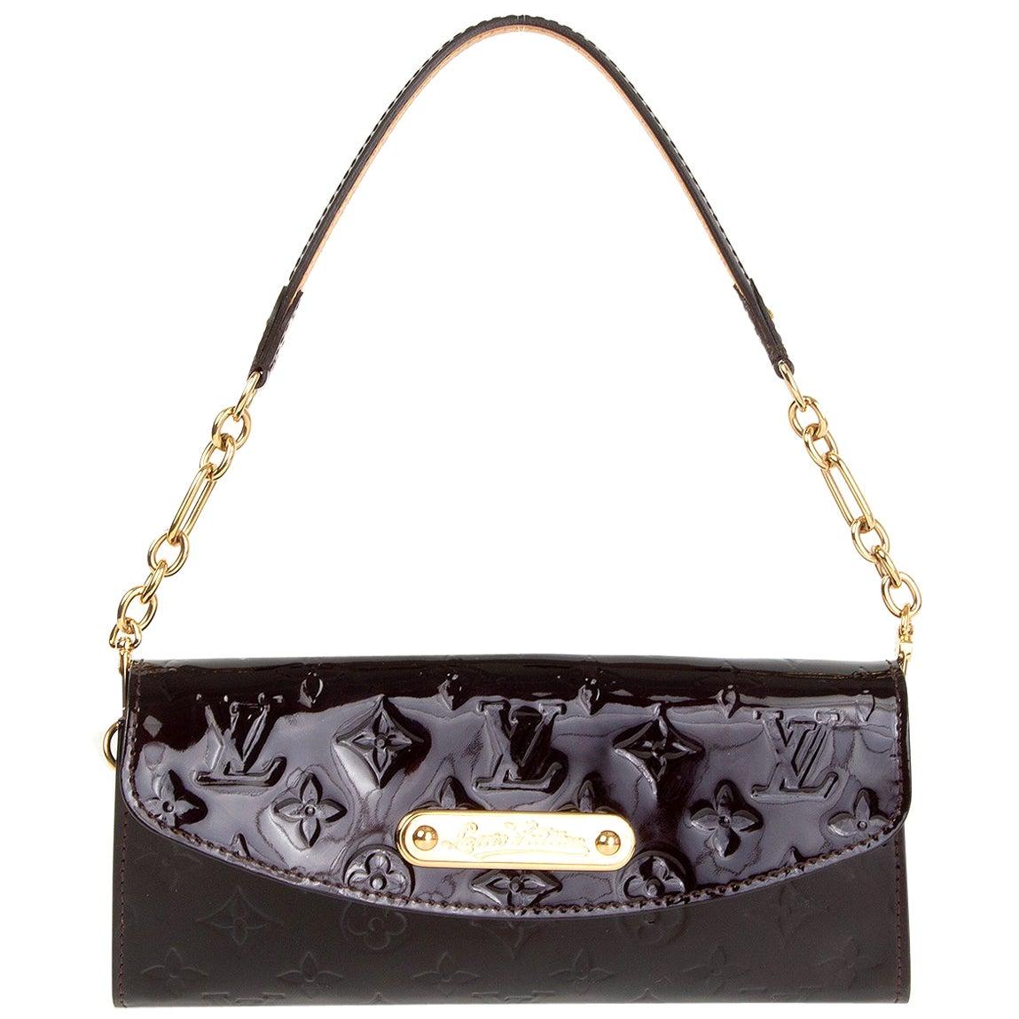 LOUIS VUITTON purple Monogram Vernis SUNSET BLVD Amarante Shoulder Bag