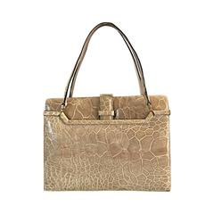 Rare Vintage 1960s Finesse La Model Alligator Taupe Beige Tan Handbag Purse