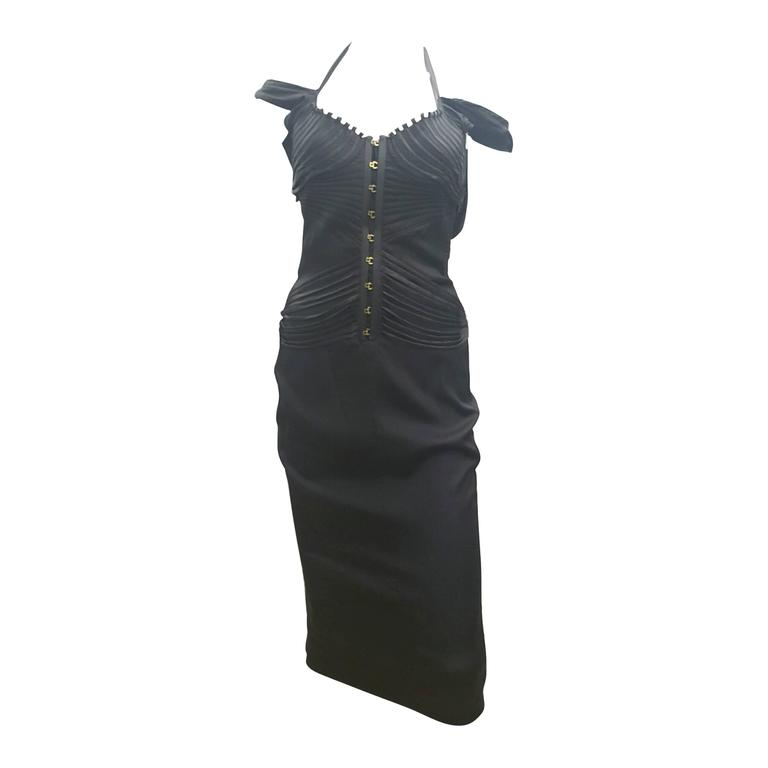 2003s Gucci Iconic antracite Dress by Tom Ford For Sale