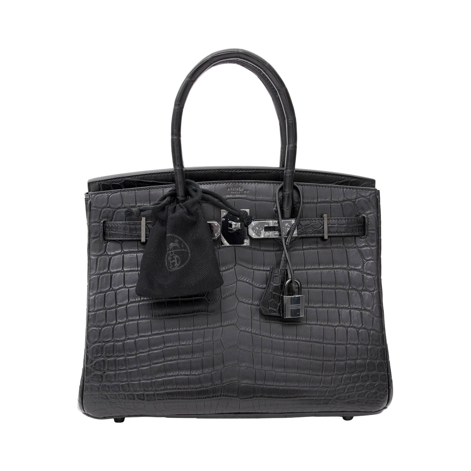 "Brand New Hermes Birkin 30 ""So black"" Matte Crocodile Niloticus at 1stdibs bf4fd6c650"