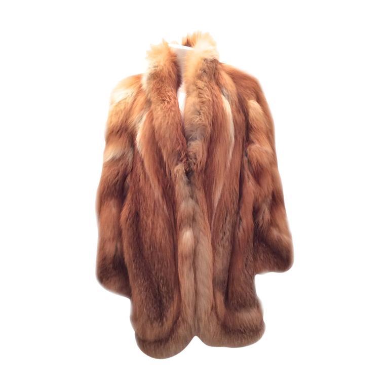 Beautiful Red Fox Jacket - Size Large 1