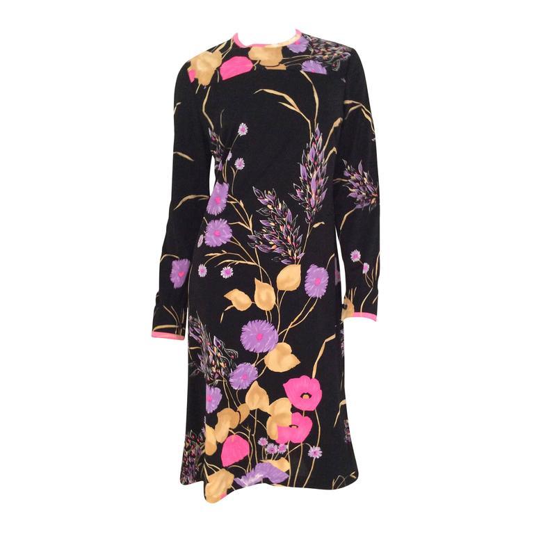Leonard Dress - Black with Flowers - Mint Condition