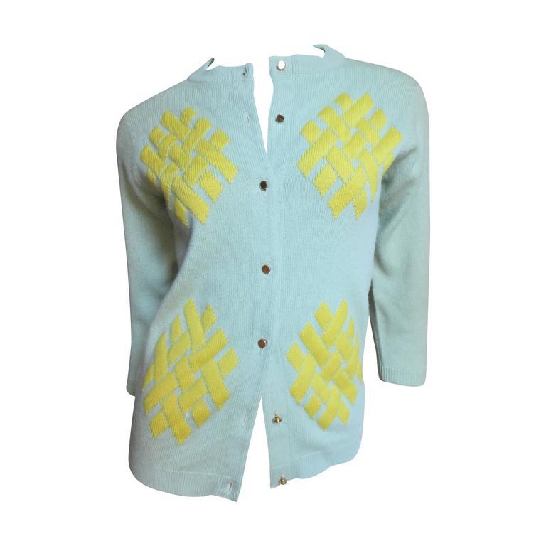 1960's Bonnie Cashin Cashmere Sweater 1