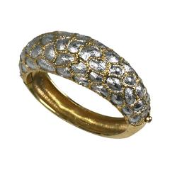 Jomaz Textured Bangle in Gold and Silver Gilt