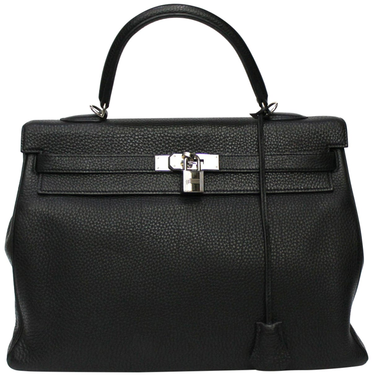 2012 Hermès Noir Leather Kelly Bag