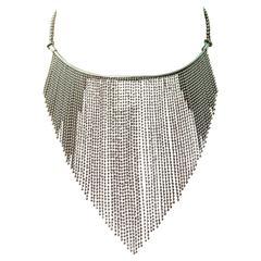 Yves Saint Laurent YSL Elegant Fringed Choker Necklace