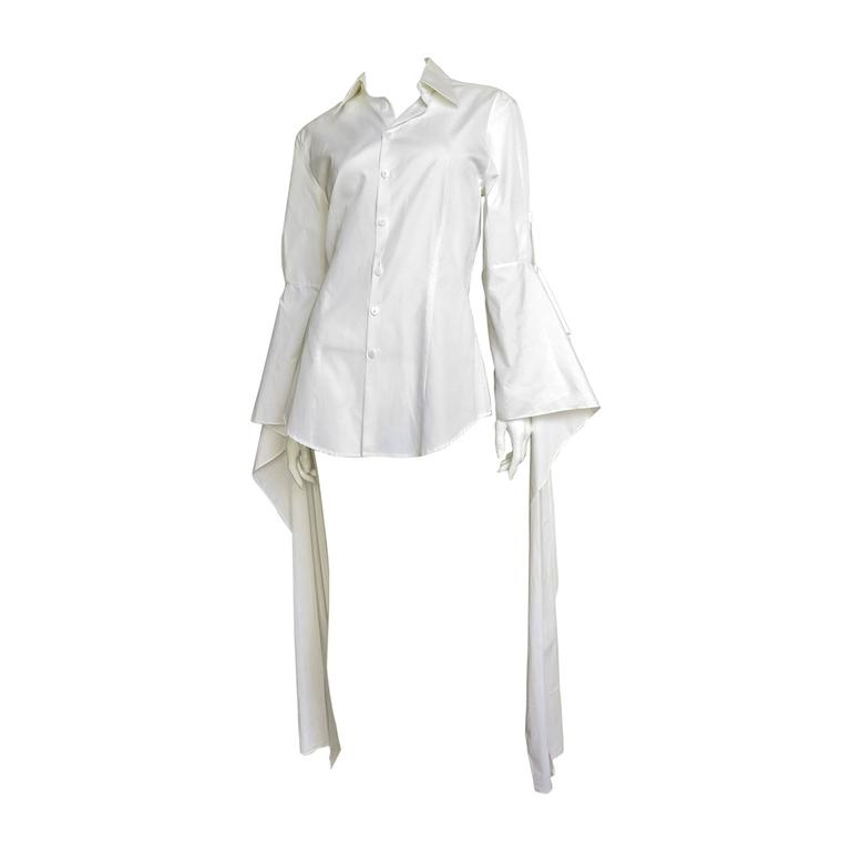 Gaultier Shirt With Draping Sleeves 1