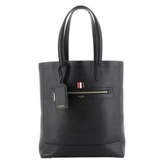 Thom Browne Front Zip Tote Leather Tall
