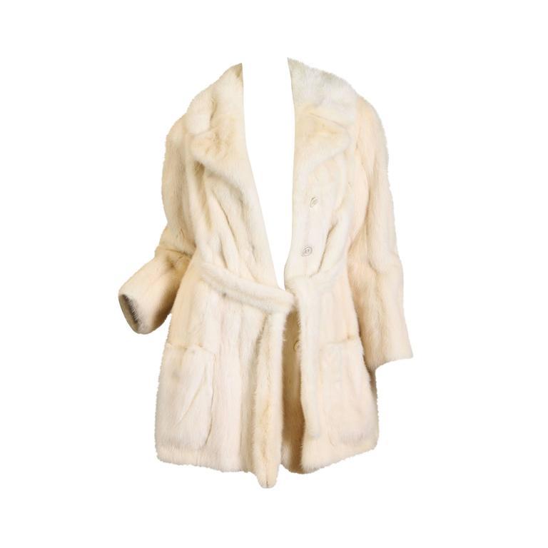 Bullocks Wilshire White Mink Coat