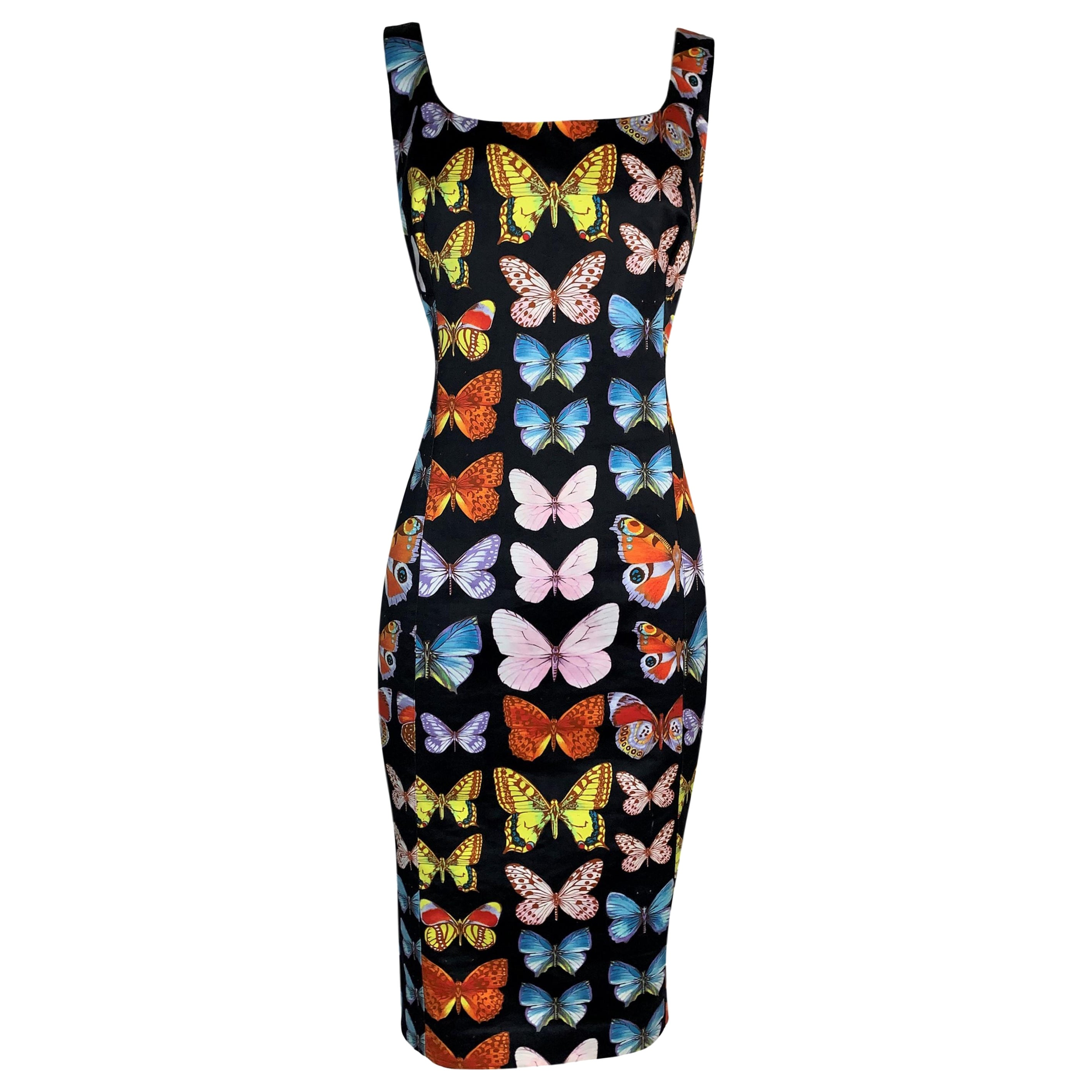 S/S 1995 Gianni Versace Runway Black Butterfly Dress