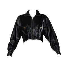 Escada Vintage Buttery Black Leather Jacket