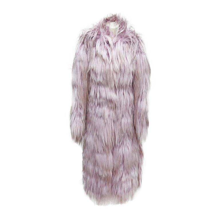 Important and rare Tom Ford for Gucci runway pink fur coat, Fall 2001 1