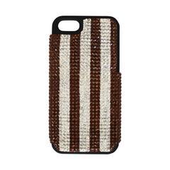 Henri Bendel iPhone 5 Brown & Clear Striped Rhinestone Phone Case