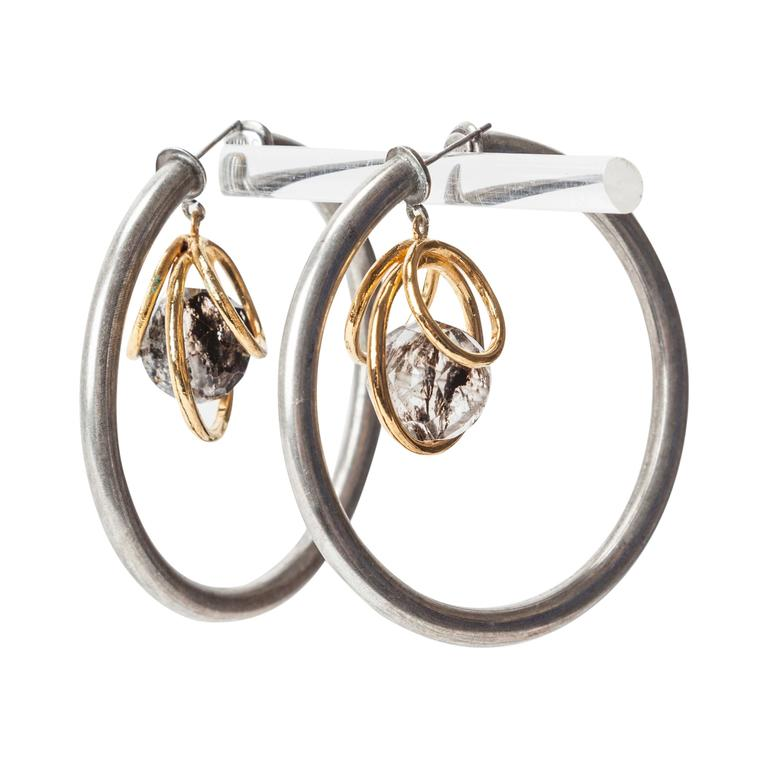 MWLC Mineral Orb Hoop Earrings