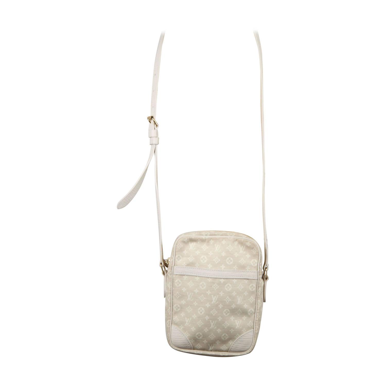 0662d695282c LOUIS VUITTON Beige MINI LIN Monogram Canvas DANUBE Messenger Bag CROSS  BODY For Sale at 1stdibs