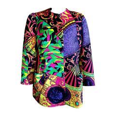 Gianni Versace Bergdorf Goodman 1991 Colorful Kaleidoscopic Jacket