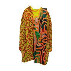 Stephen Sprouse Jacket and Dress a piece from Keith Haring collaboration