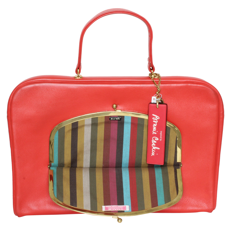 Bonnie Cashin for Coach Attache Bag Red Leather Briefcase Rare Vintage 60s