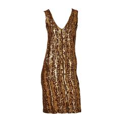Jenny Copper Sequined Knit Dress