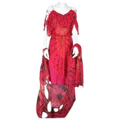 Zandra Rhodes Glamour Punk Gown, Safety Pins and Diamonds