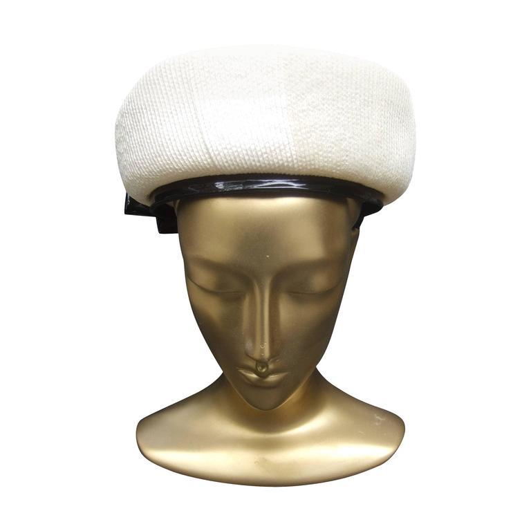 Lilly Dache Parisian Style Bow Trim Hat c 1970 1