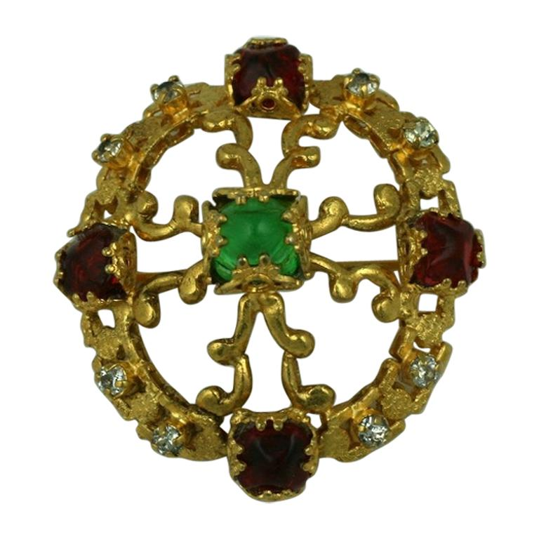 CoCo Chanel Renaissance Crest Brooch For Sale
