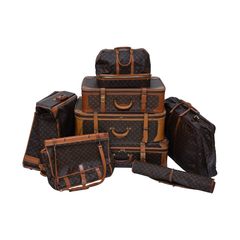 louis vuitton 8 piece traveling luggage 1970 u0026 39 s