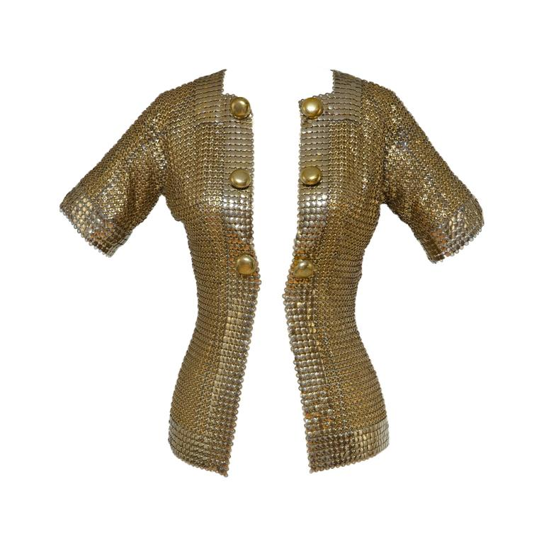 Paco Rabanne Chain Mail Metal Jacket Early 1968