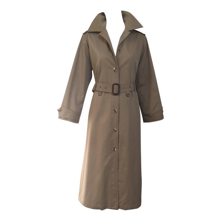 1970s Saint Laurent - YSL khaki trench coat 1