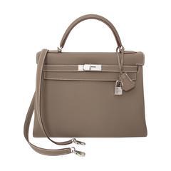 Brand New Hermes Kelly 32 Etoupe Togo