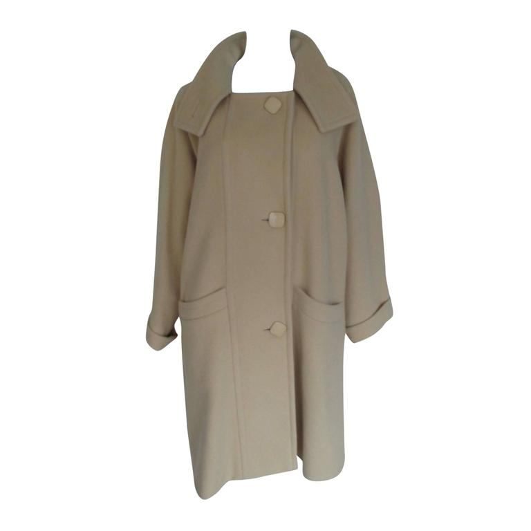 Pierre Cardin creme color wool coat