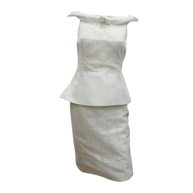 1990s Antonio Berardi White Dress