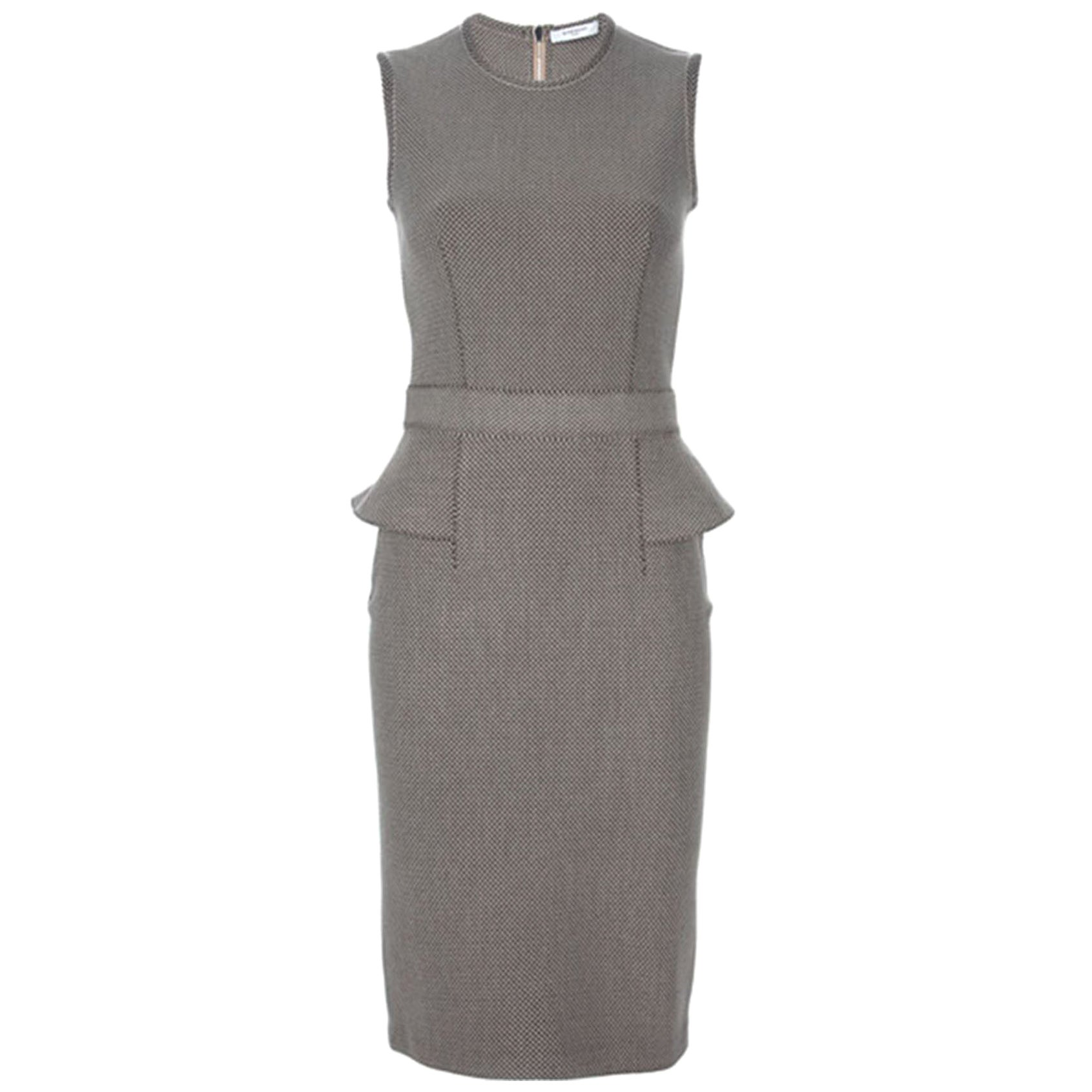 Givenchy Textured Wool-Blend Peplum Dress