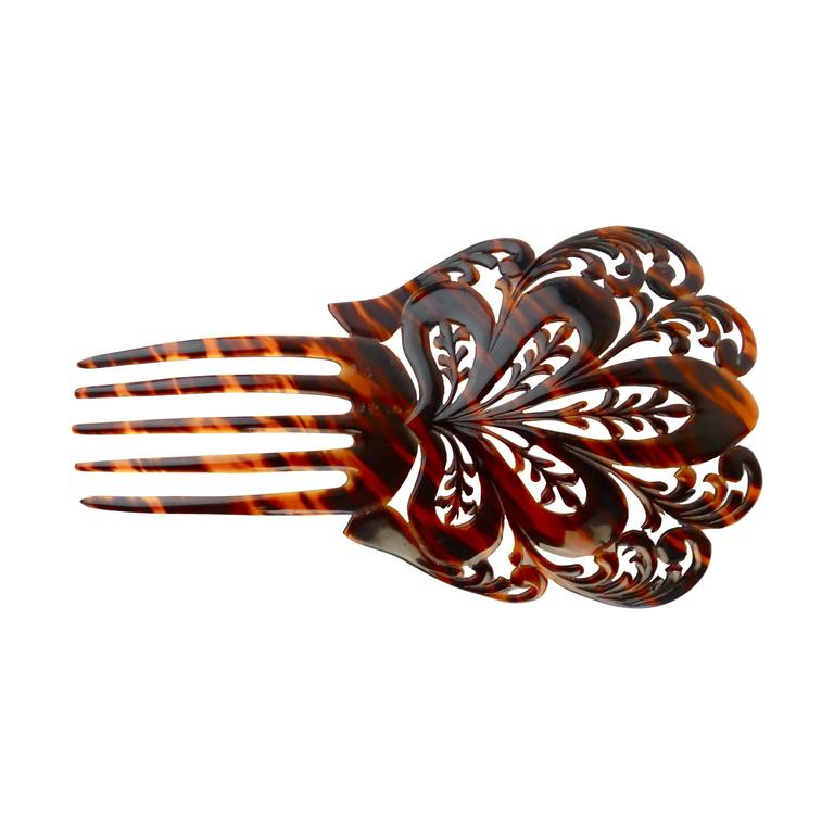 1920s Mantilla Tortoiseshell Hair Comb  For Sale