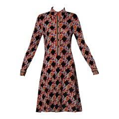 Signed Mr. Dino Vintage Geometric Dress