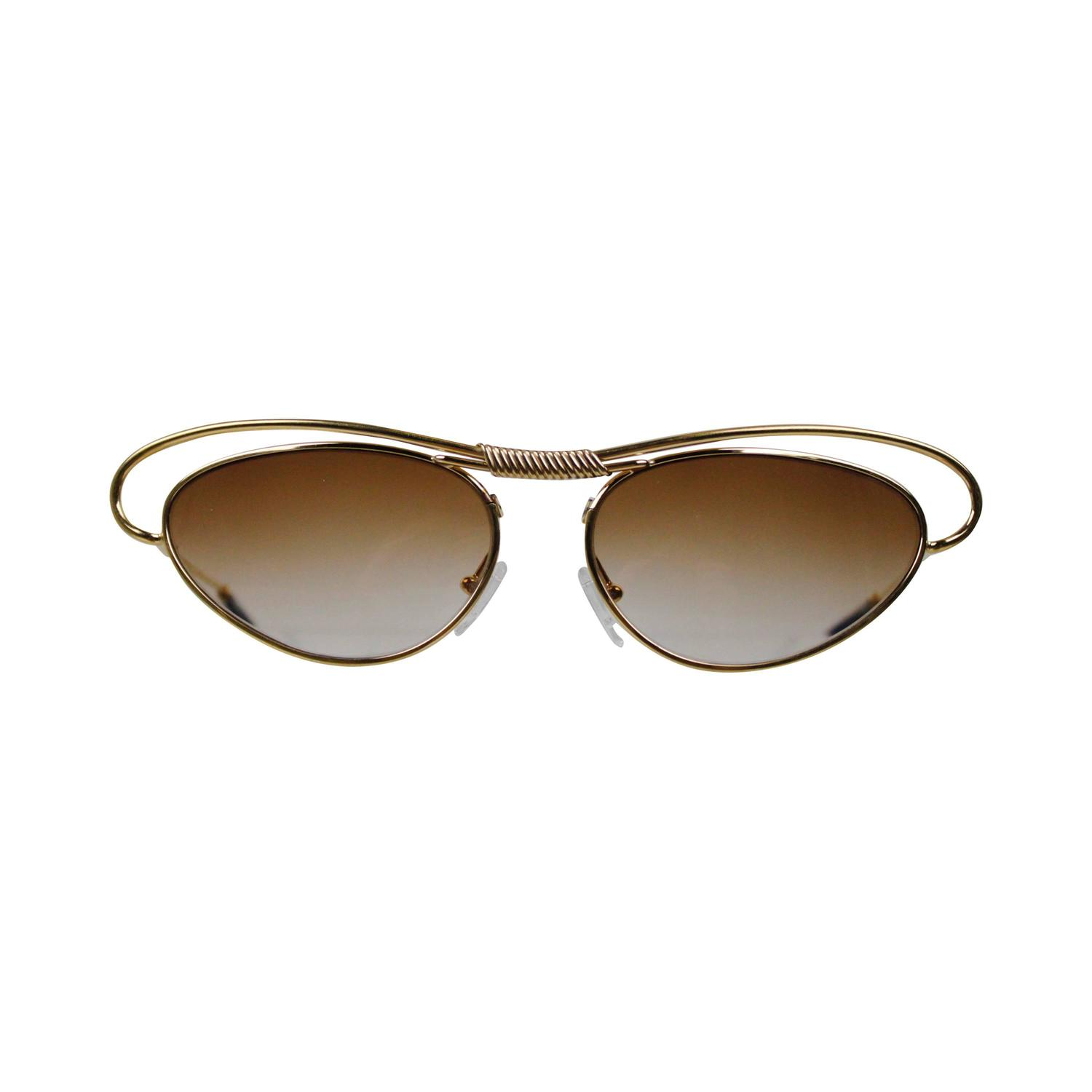 christian lacroix gold wire sunglasses at 1stdibs