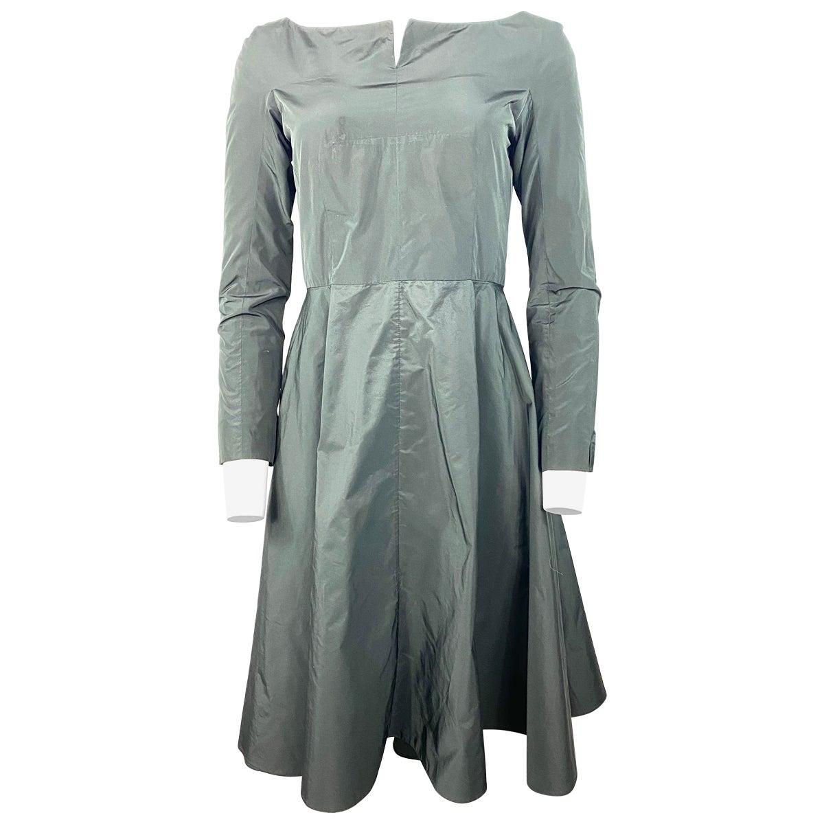 Vintage Carven Black Mid Lenght Long Sleeve Dress Size 38