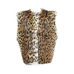 An early Gianni Versace leopard print fur gillet c. 1980s