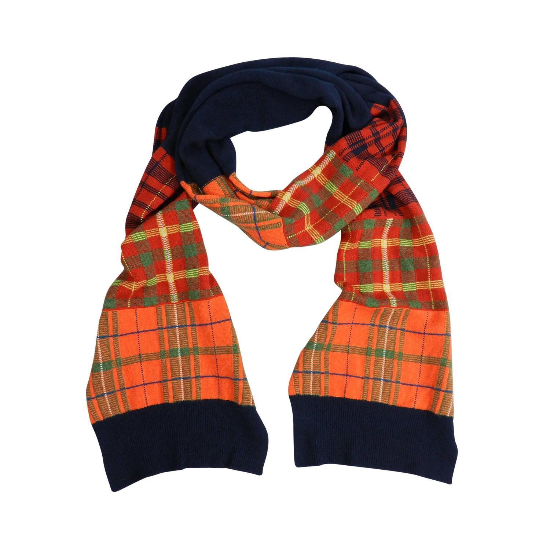 chanel pre fall 2013 scarf orange navy